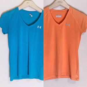 Two Under Armour workout tops XS